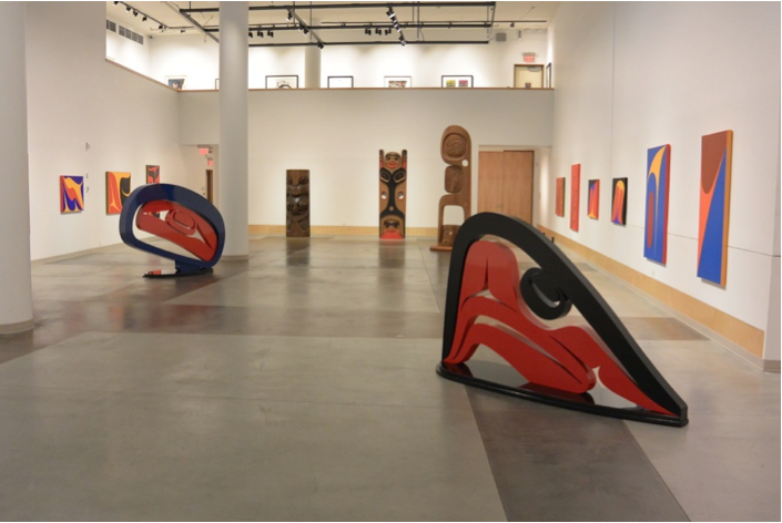 Gallery image from the 'Robert Davidson: Progression of Form' exhibition by the The Gordon and Marion Smith  Foundation (Gordon Smith Gallery) in North Vancouver, BC.